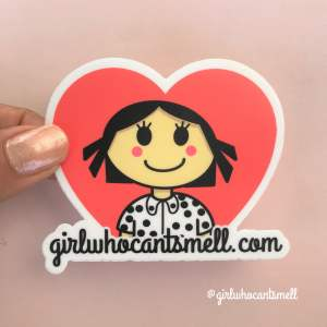 Girl Who Cant Smell Heart Logo Anosmia Sticker For Sale The Girl Who Cant Smell