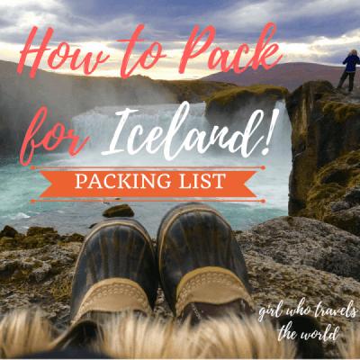 Iceland Packing List for Women