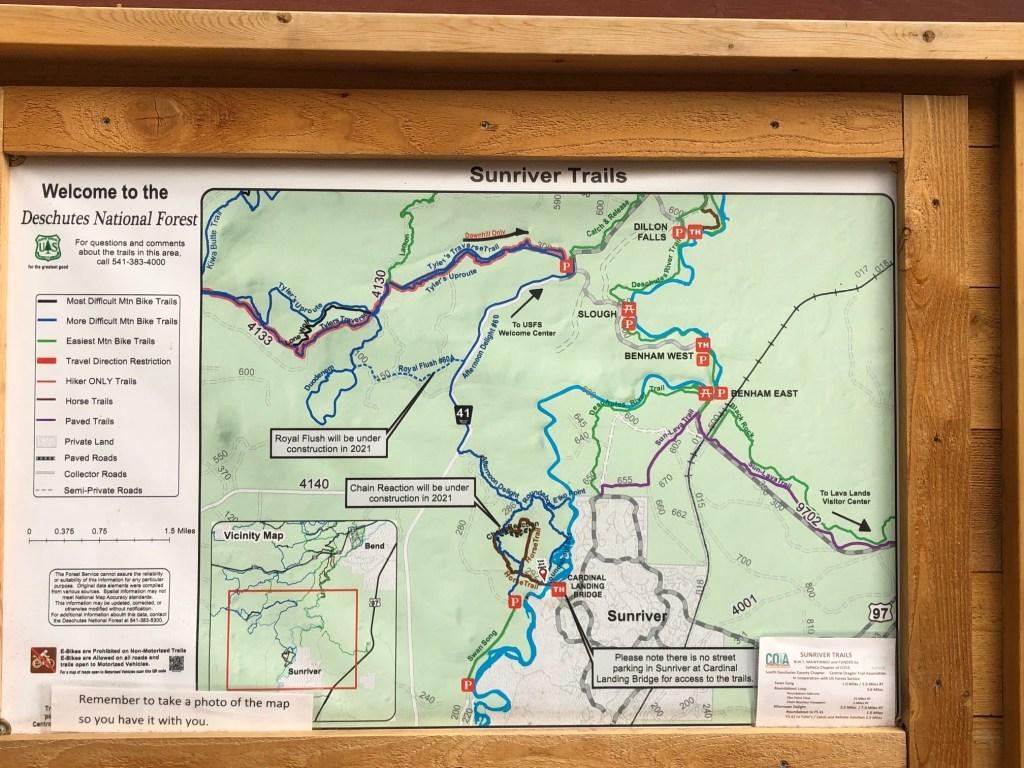 Best Bike Trails by Sunriver, Oregon, Girl Who Travels the World, Sunriver Bike Map