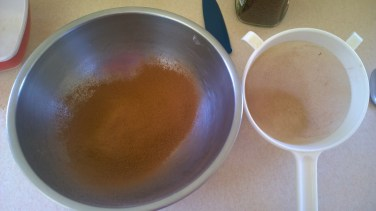 sieved cocoa