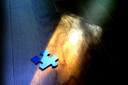 on puzzle pieces & courage {find me at (in)courage today!}