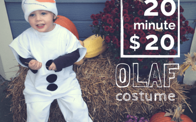 On a $20, 20-Minute Olaf Costume (a tutorial!)