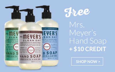 Last day: Free Mrs. Meyers Soap + $10 ePantry Credit
