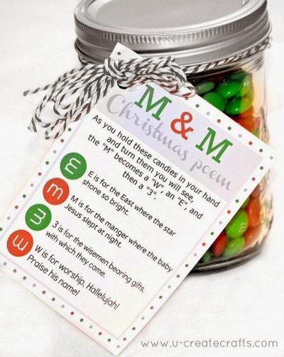 M&M Christmas poem