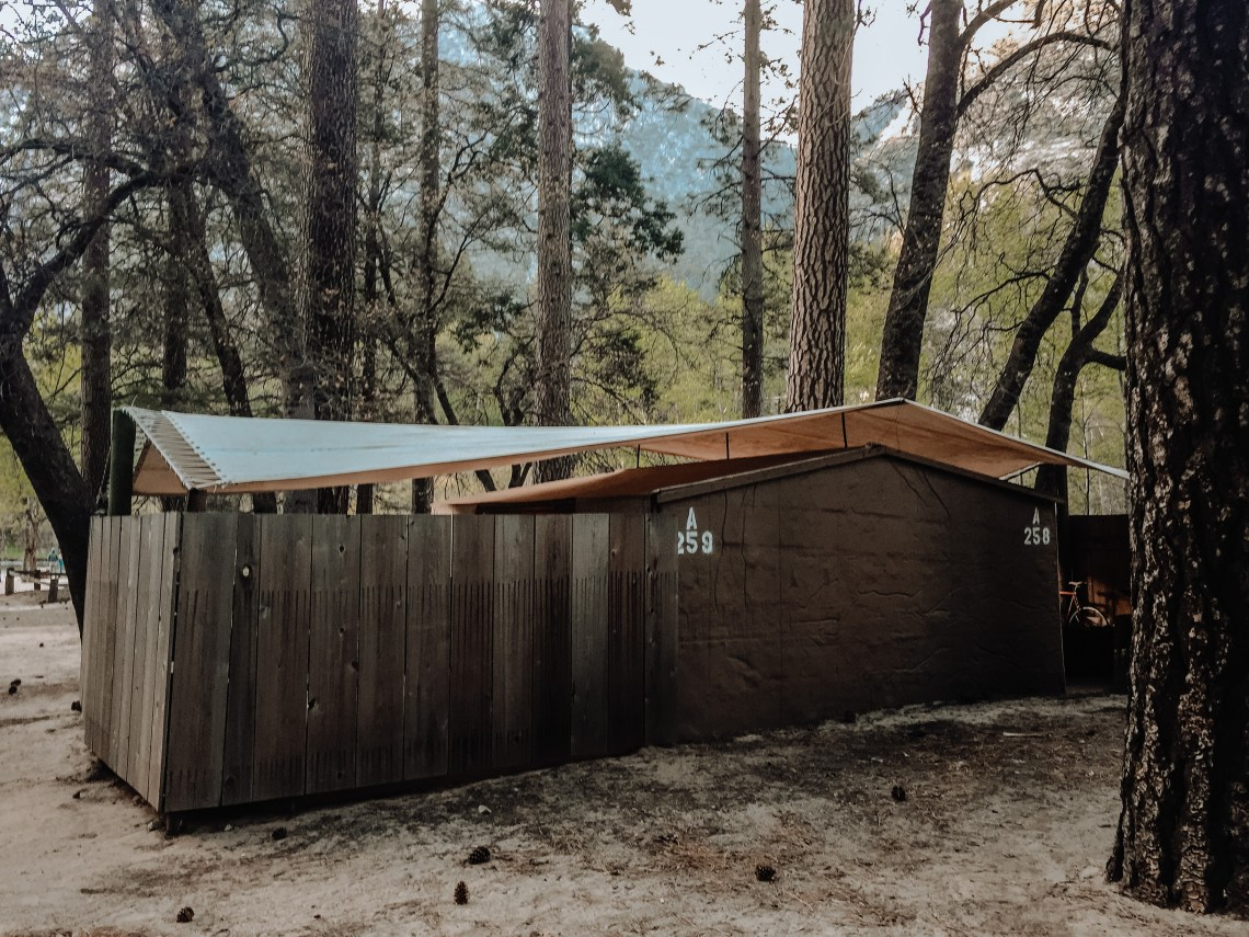 Housekeeping Camp Glamping Unit in Yosemite Valley National Park