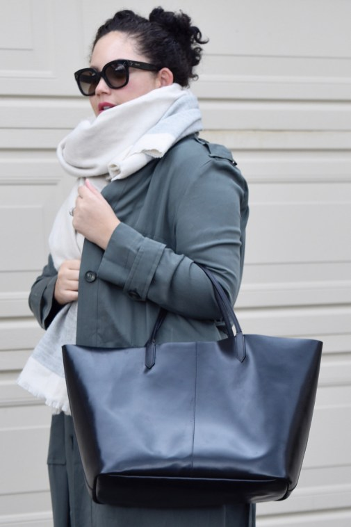 Girl With Curves featuring Trench coat from Asos, Scarf from Zara, handbag from Givenchy, and Sunglasses from Celine
