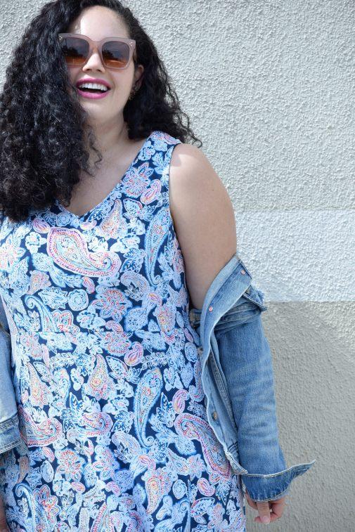The Perfect Spring Dress via @GirlWithCurves