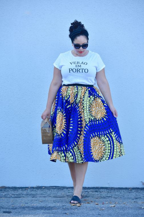 The Ladylike Way to Wear a Graphic Tee via @GirlWithCurves