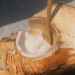 Plastic - Coconut with Bamboo Spoon