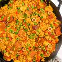 Chorizo and Chicken Paella