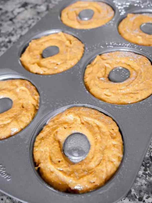 Pumpkin Spice Donut Batter in tin