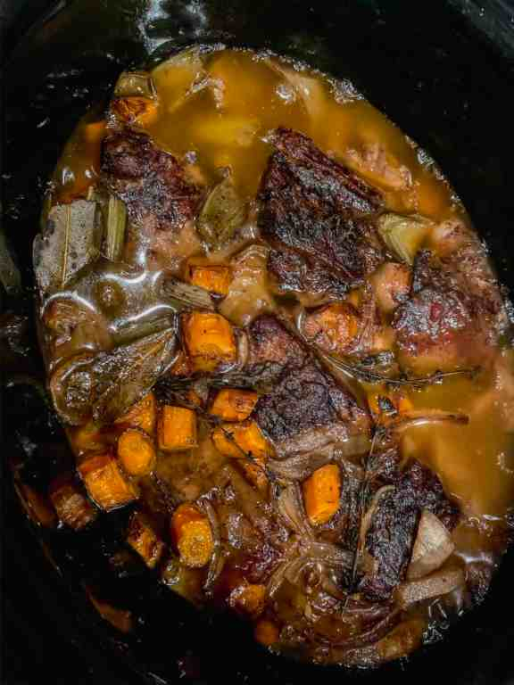 short ribs in crockpot after cooking low and slow for over 8 hours