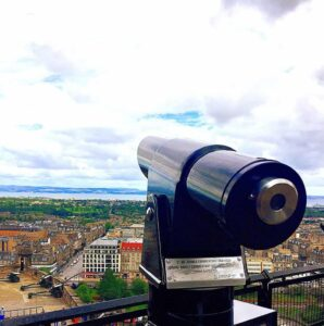 With a view like this from Edinburgh Castle, you may not even care if you understand what people are saying.