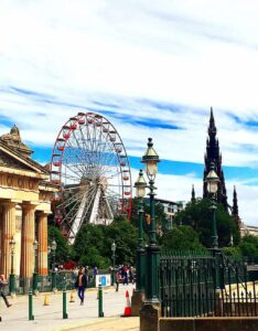 I love how the beauty of the modern and the historic seamlessly intertwine in Edinburgh Scotland travel.