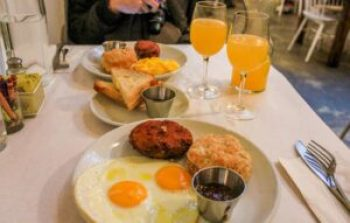 Brunch in New York City at Egg.