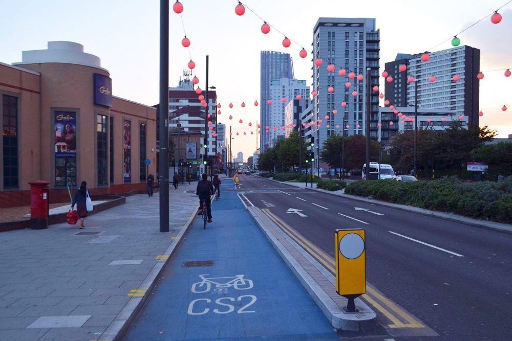 Pista ciclabile a Londra