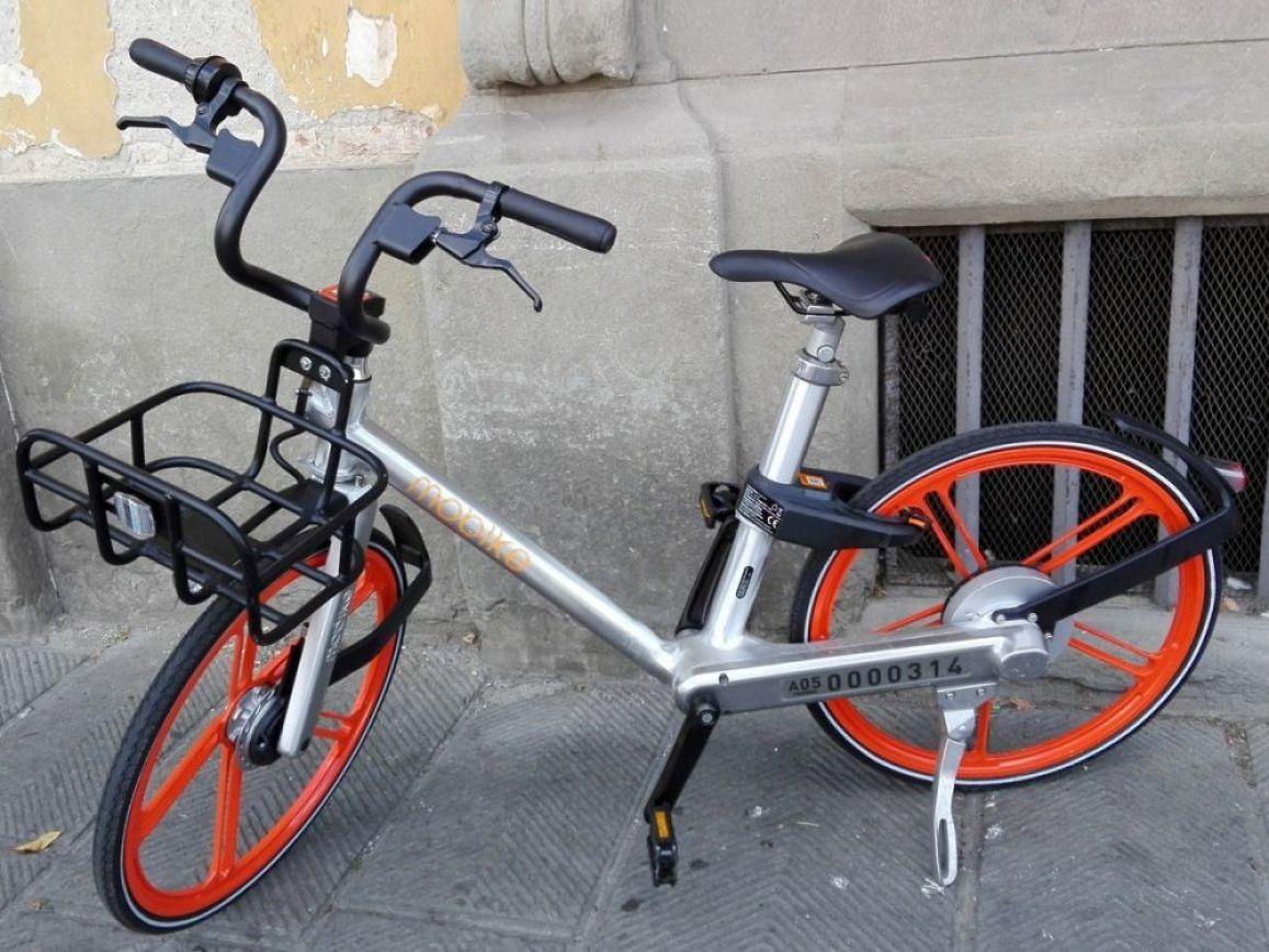 Bicicletta Mobike a Firenze, foto Fiorella Manini
