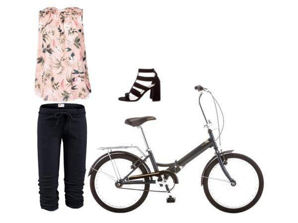 Outfit per andare in bicicletta in stile sporty chic