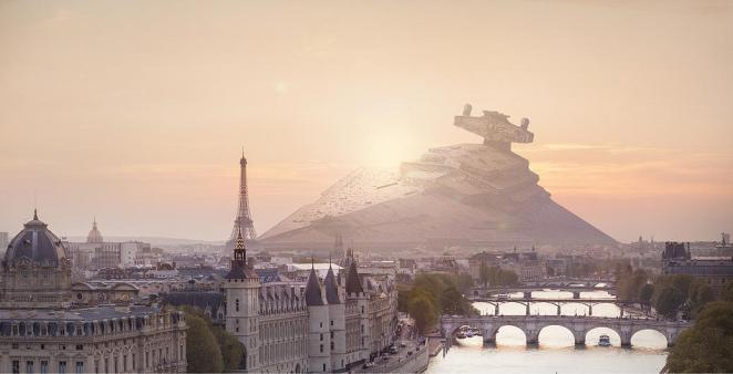 Photos of Star Wars Vehicles Crash Landed on Earth - Digital Art Mix