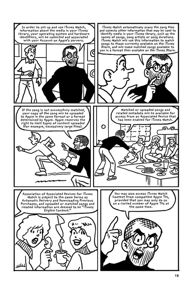 The iTunes Terms and Conditions Illustrated as a Graphic Novel - Digital Art Mix