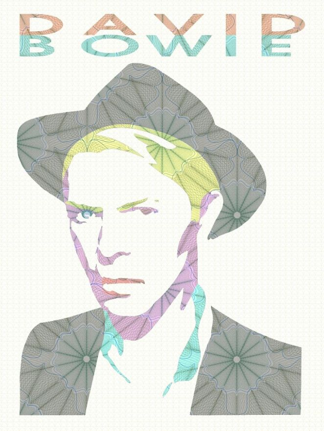 A Tribute to the Legend David Bowie - Digital Art Mix