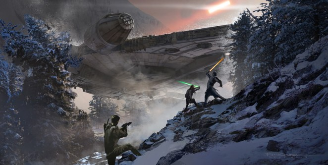 Star Wars - The Force Awakens Concept Art - Digital Art Mix