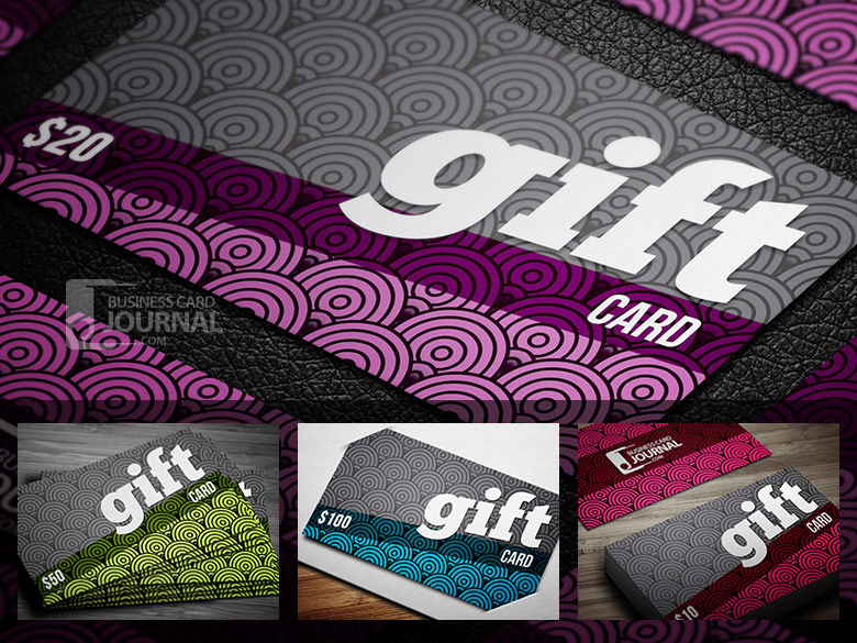 10 stylish free business and gift card templates creative fancy gift card template in 4 color variations yadclub Gallery
