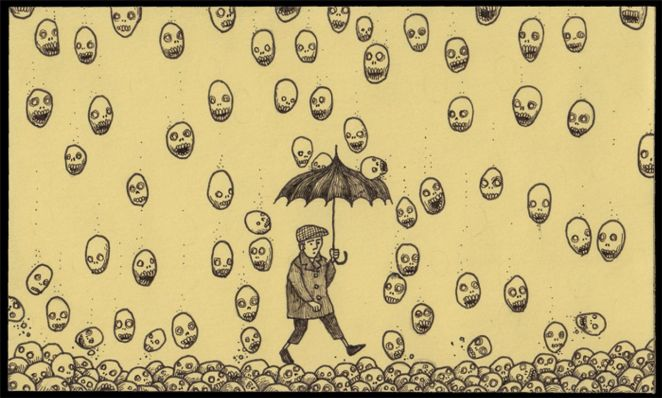 The Post-it Note Monster Drawings of Don Kenn - Girly Design Blog