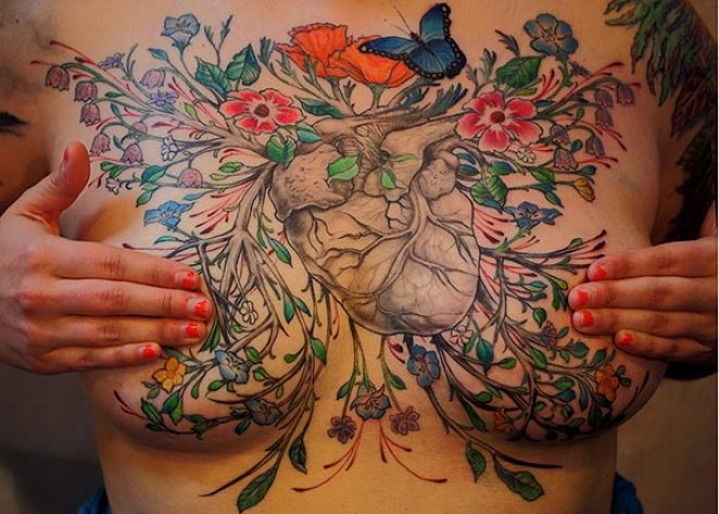Gorgeous Tattoos Covering the Scars of Survivors of Breast Cancer - Girly Design Blog