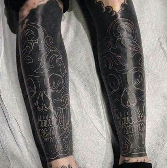 30 Extreme Blackout Tattoos - Girly Design Blog