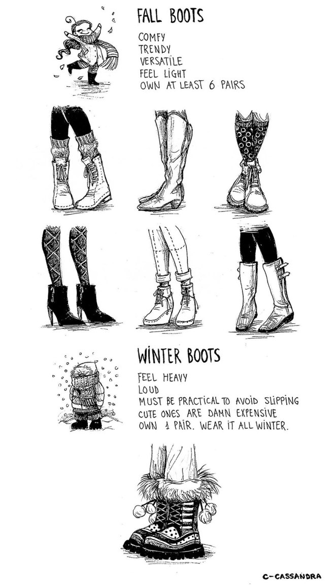 Women's Everyday Problems Illustrated by C-Cassandra - Girly Design Blog