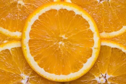 敷き詰められたオレンジのテクスチャ