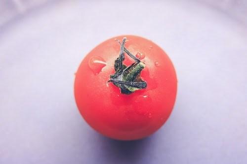 ころんと真っ赤な「みつトマト」を上から見た様子