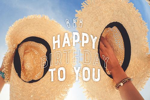 「happybirthday」「おめでとう」「お祝い」「お誕生日おめでとう」「夏」「夏の誕生日」などがテーマのフリー写真画像