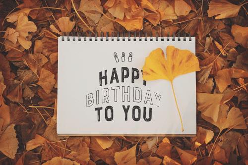 【可愛い誕生日おめでとう画像】秋生まれさんにプレゼントしたい『HAPPY BIRTHDAY』ver.7