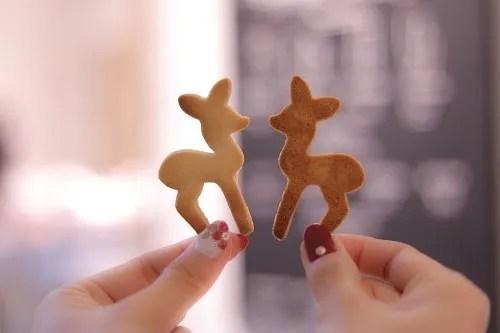 見つめ合うバンビクッキー
