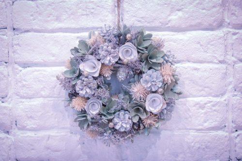 「クリスマスパーティ」「リース」「植物」などがテーマのフリー写真画像