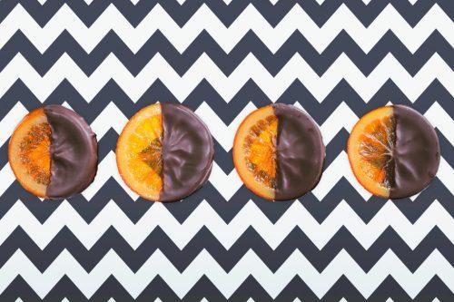 「オランジェット」「オレンジ」「お菓子」「チョコ」「ホワイトデー」「俯瞰撮り」「真上から」「食べ物」などがテーマのフリー写真画像
