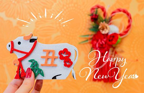 フリー写真素材:正月あけおめ画像スタンプ『HAPPY NEW YEAR』その71
