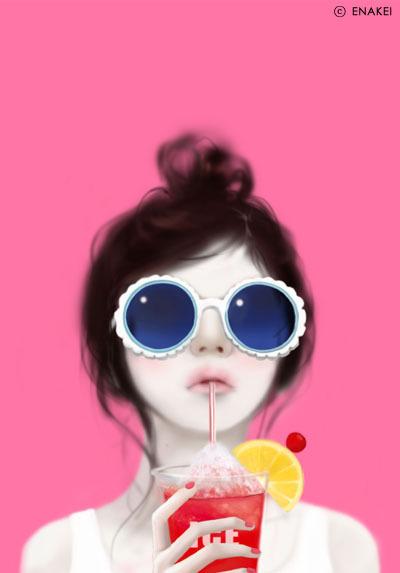 Korean Cartoon Girl Wallpaper Girly Gifs 187 Avatars Enakei