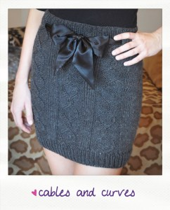 cables and curves cable knit skirt knitting pattern