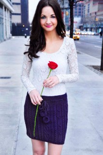 """""""Heart Me Forever"""" Cable Knit Skirt"""