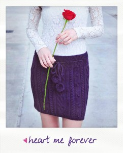heart me forever cable knit skirt knitting pattern