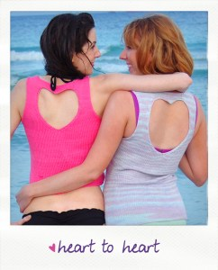 heart to heart embellished knitted tank top with heart cut out back knitting pattern