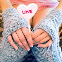 """""""Heart Warmers"""" Cable Knit Legwarmers and Gloves Set"""