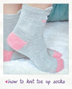 how to knit a toe up socks video tutorial