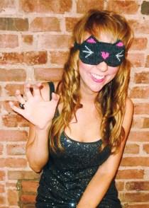 """Meow!"" Reversible Kitty Cat Eye Mask"