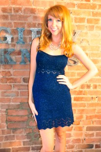 """Putting on the Glitz"" Lace Hem Evening Dress"