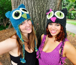 """""""Owl Be There"""" Family of Animal Hats"""