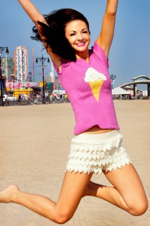 """""""With Sprinkles on Top"""" Ice Cream T-Shirt with Bow Back"""